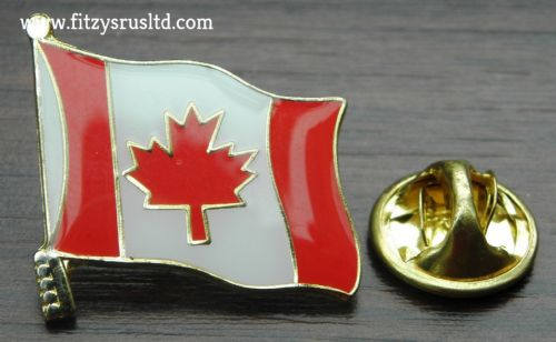 Canada Canadian Flag - Enamel Lapel / Hat Pin Badge New